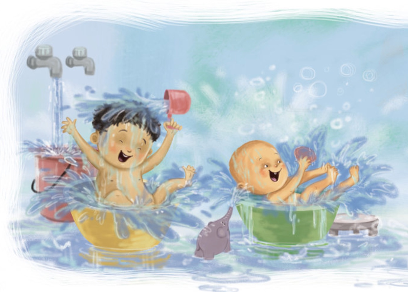 Bathtime for Chunnu and Munnu – bedtime fun for early readers